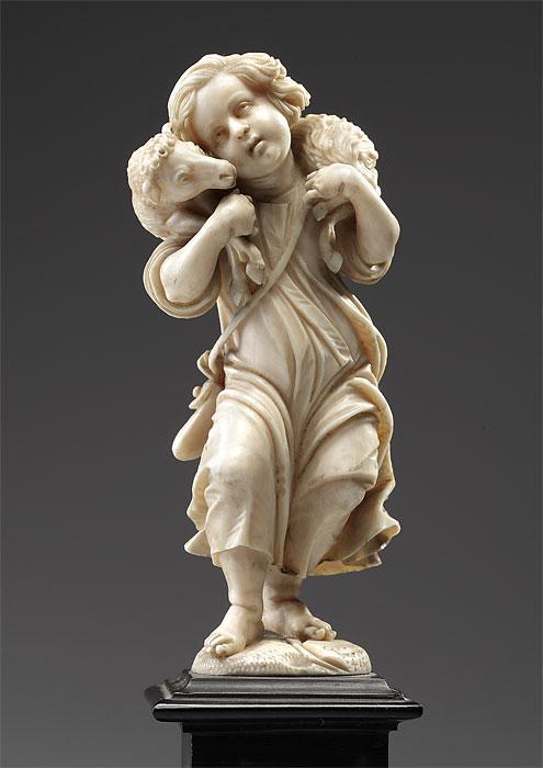 Ivory statue - Antiquary Erik Bijzet